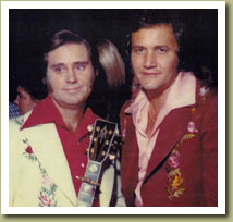 Roger Miller with George Jones. ca. 1974